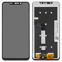 Дисплейный модуль (дисплей и сенсор) для Xiaomi Redmi Note 6 Pro, черный, оригинал