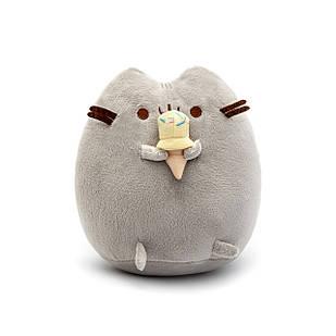 Мягкая игрушка, Пушин кэт, Pusheen cat с мороженым, Серый (101-gv)
