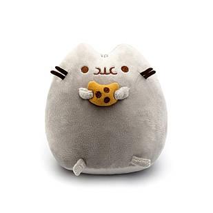 Мягкая игрушка, Пушин кэт, Pusheen cat с печеньем, Серый (102-gv)