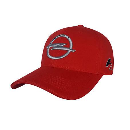 Автомобільна кепка Opel, червоний, фото 2