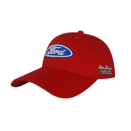 Бейсболка логотип авто Ford, красный, фото 2