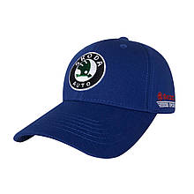 Бейсболка логотип авто Scoda, синій