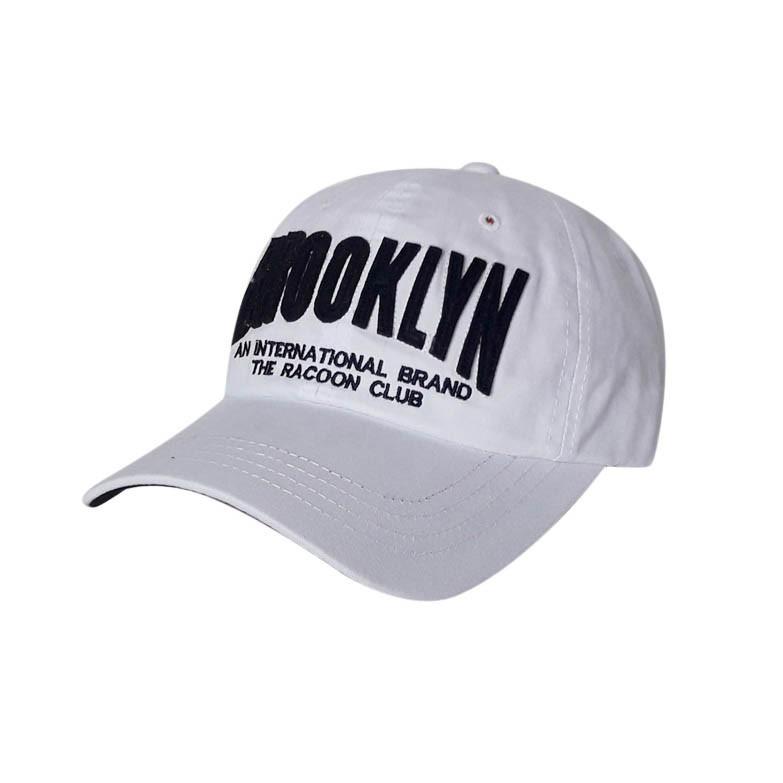 Стильная бейсболка Brooklyn, белый