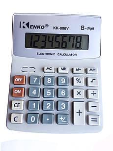 Калькулятор настольный Kenko КК-808V Серый (КК-808V)