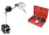 Набір. Стійка індикаторна з магнітним підставою GROZ і індикатор годинникового типу ИЧ-10 0.01 мм з вушком