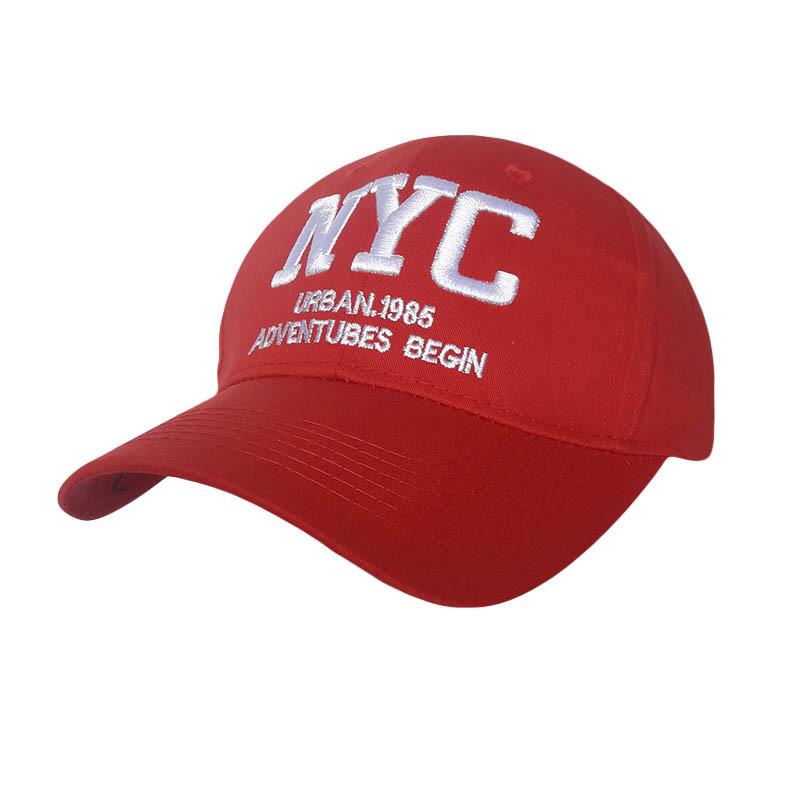 Стильная кепка NY, красный