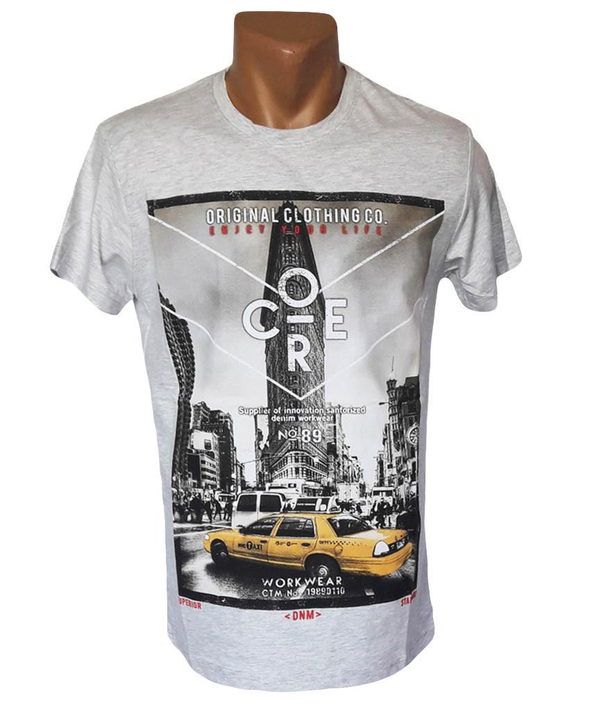Мужская футболка, серый