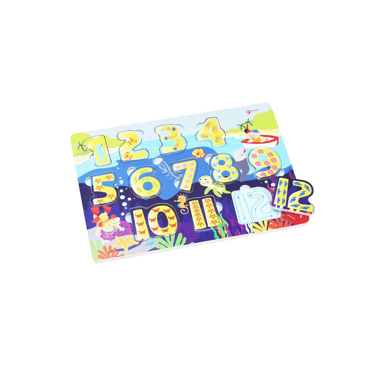 Іграшка дерев'яна вкладка Цифри 3548