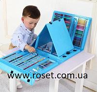Художественный набор для рисования с мольбертом (176 предметов), Синий