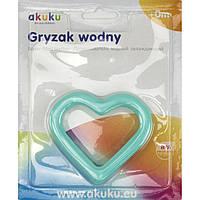 """Прорізувач для зубів водний Серце """"Akuku"""" №A0426"""