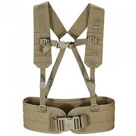 Пояс РПС тактический с плечевыми ремнями Ranger койот