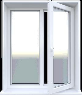 Металлопластиковое окно Steko двухстворчатое открывное 1280 х 1400 мм Белый (S300GFBJRARDRE)