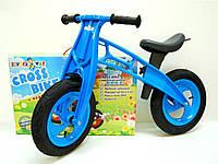 """Машина каталка - толокар,велобіг """"Cross Bike"""" 12"""", 11-018 блакитна/ Кіндер-Вей"""