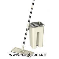 Швабра Easy Flat Mop с ведром и самоотжимом - Комплект для уборки