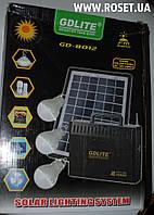 Портативный аккумулятор с солнечной панелью GDLite GD-8012 FM Radio, фото 1