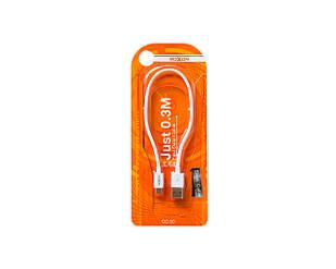 USB-кабель Moxom с micro USB 0.3 м Белый (2263)