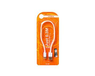 USB-кабель Moxom с Type-C 0.3 м Белый (2264)
