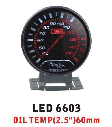 Температура масла тонкий 6603 LED стрелочный диам. 60мм.