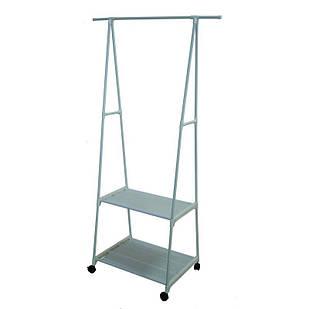 Стойка стеллаж для одежды Supretto 160 х 42 х 55 см белая (5472)
