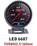 Давление турбины на ножке, тонкий 6607 LED стрелочный диам.60мм.черный в корпусе