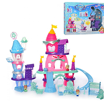 Замок,фігурки 3шт,4см,,в коробці,53х47х12см 1208B-1