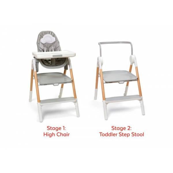 Skip Hop Многофункциональный стульчик для кормления 2 в 1 Sit-To-Step High Chair