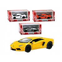 "Машина металл. ""Kinsmart"" Lamborghini Aventador KT-5355-W"