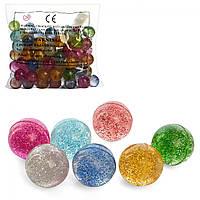 Стрибуни №MS 1763-2,блискітки,3,2см,мікс кольор,в кульку 21х28х8см(100)(1200)