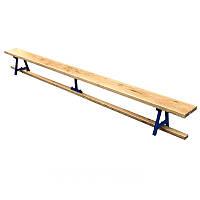 Скамейка гимнастическая универсальная (300x32x24см, дуб толщ.40мм, металл) PZ-SK-0733