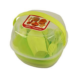 Набор пластиковой посуды Supretto для пикника 48 шт Зеленый (5092)