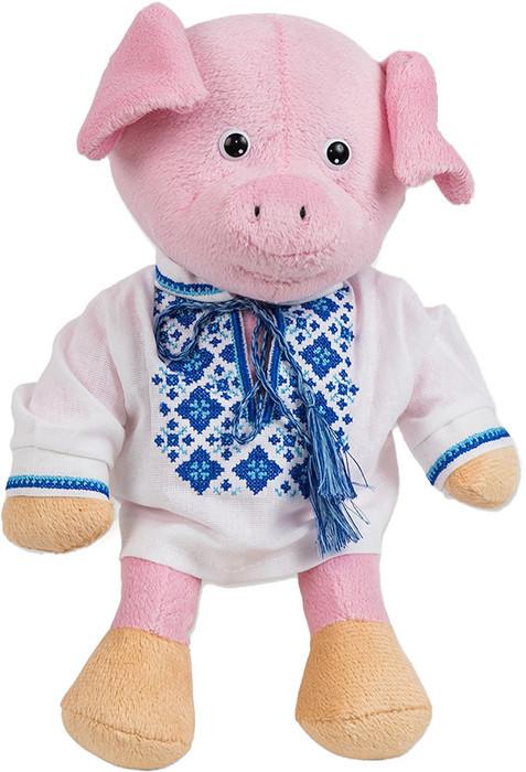 """М'яка іграшка """"Свинка-хлопчик у вишиванці"""" 25см СВ-0021"""