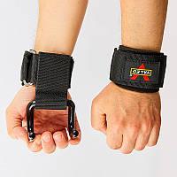 Крюк-ремни атлетические для уменьшения нагрузки на пальцы (2шт) Valeo (PL, металл) PZ-TA-8130