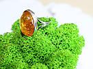 Кольцо серебряное с натуральным янтарем Сицилия, фото 4