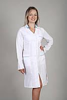 Женский медицинский халат белый (габардин)