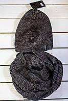 Зимняя  шапка  рубчик  на мальчика р 48-50-52-54