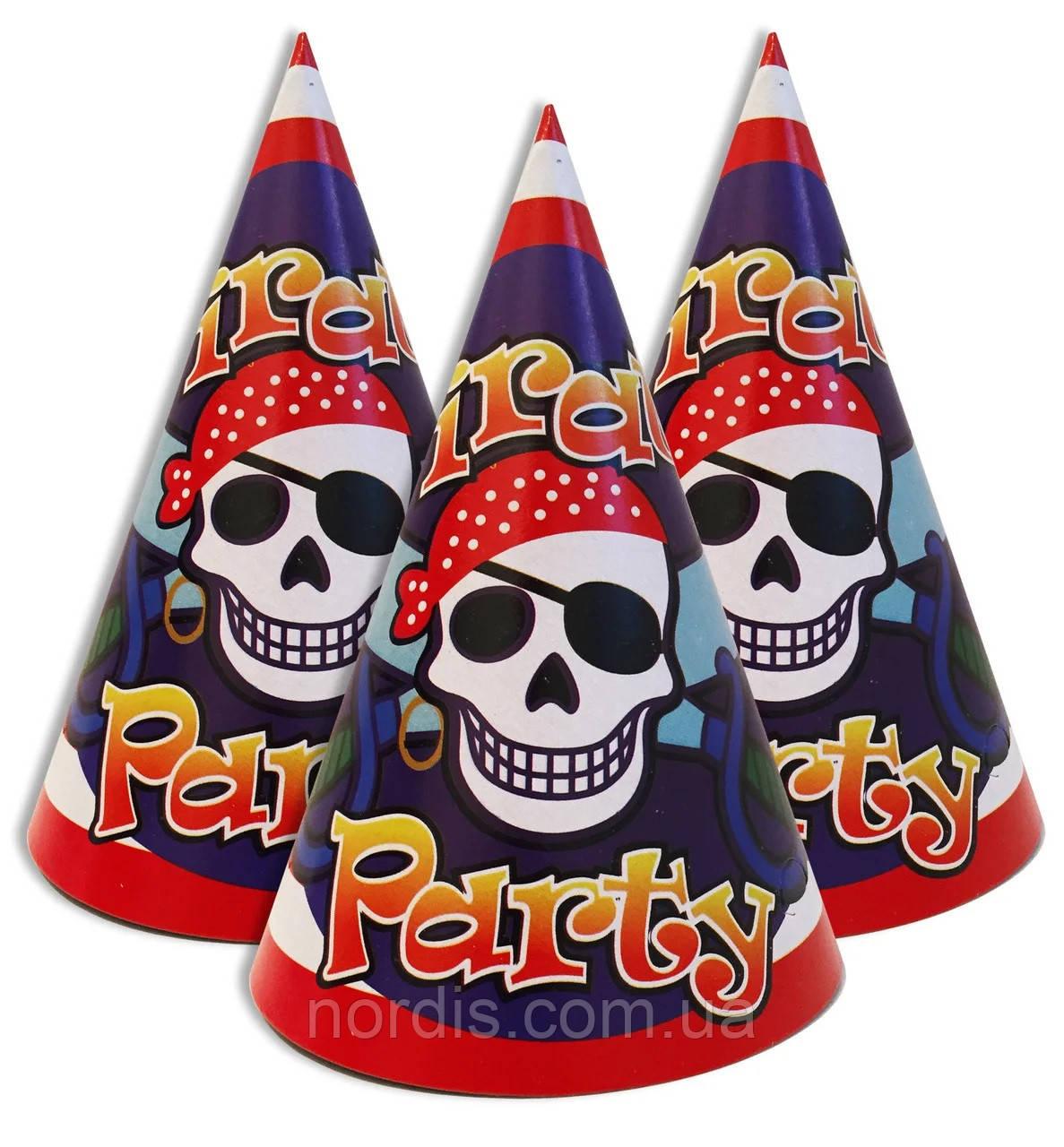 """Колпачки праздничные, маленькие """"Пираты"""",10 шт/уп."""