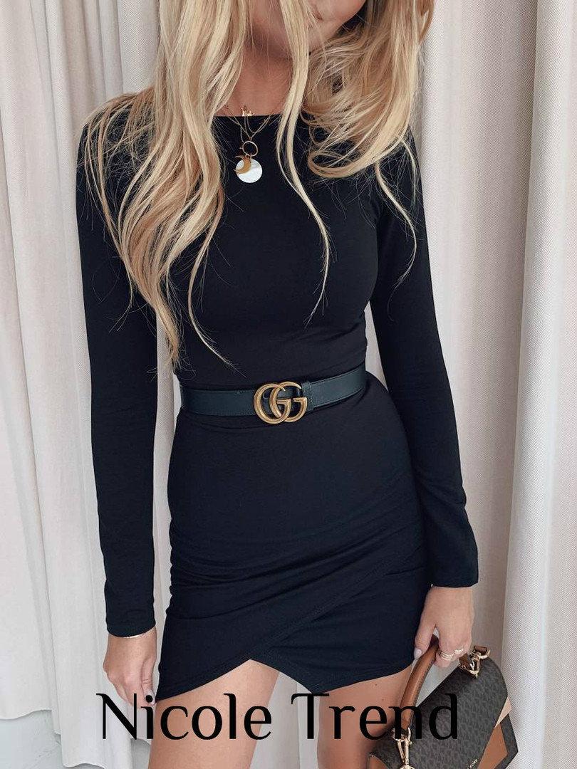 Платье женское маленькое черное