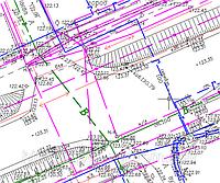 Геодезические работы - вынос участка, Топографическая съемка 1:500, разбивка осей