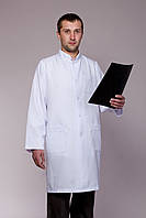 Мужской медицинский халат белый (габардин)