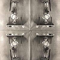 "Салфетка декупажная 33x33 см 30 ""Винтаж ретро Мальчик на кухне Сладости Старое фото "" Серветка для декупажу"