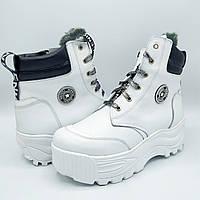 Женские зимние кожаные ботинки на натуральном меху Z34-222