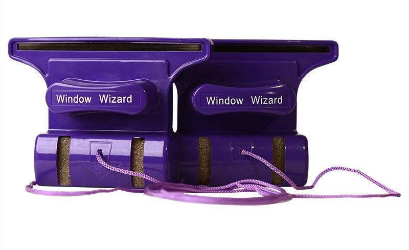 Магнітна щітка SUNROZ Windows Wizard для миття вікон з двох сторін одночасно Фіолетовий (SUN4939)