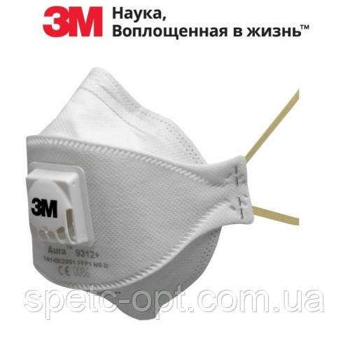 Респиратор 3М 9312+ Aura FFP1. Противоаэрозольный, токсичной пыли. ОРИГИНАЛ