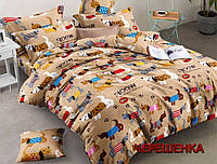 Полуторный набор постельного белья из Ранфорса №173175 Черешенка™