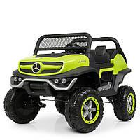 Детский электромобиль Джип «Mercedes Benz» M 4133EBLR-5 Зеленый (4WD полный привод)