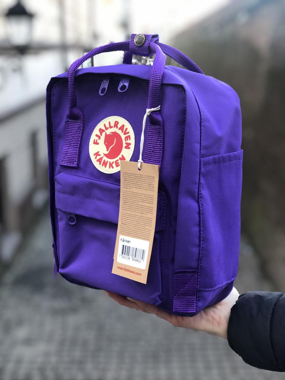 Рюкзак Fjallraven Kanken MiniDeep Violet, 7л, Материал: Vinylon F 100%
