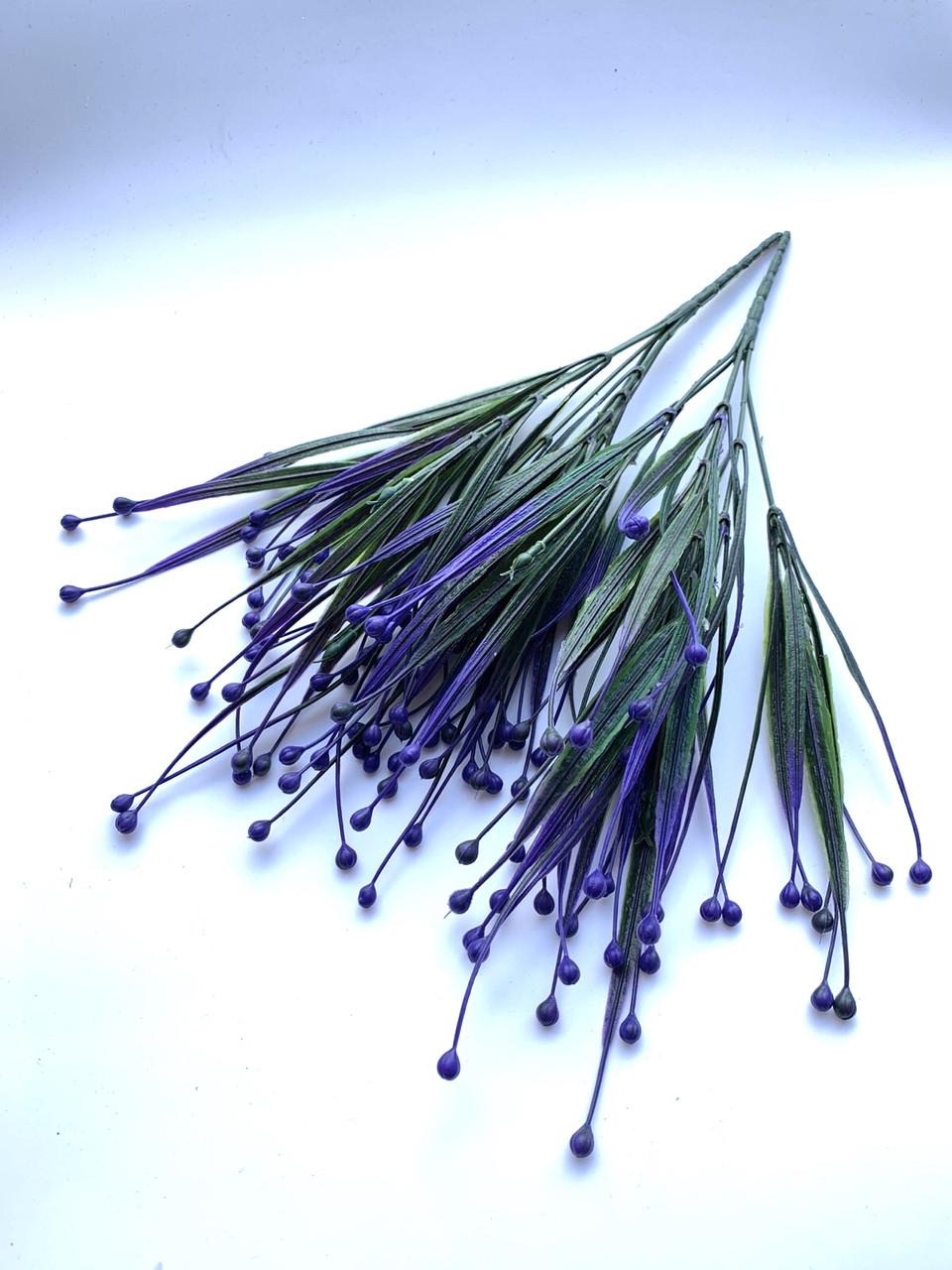 Искусственная трава осока фиолетовая (32 см)