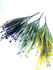 Искусственная трава осока фиолетовая (32 см), фото 3