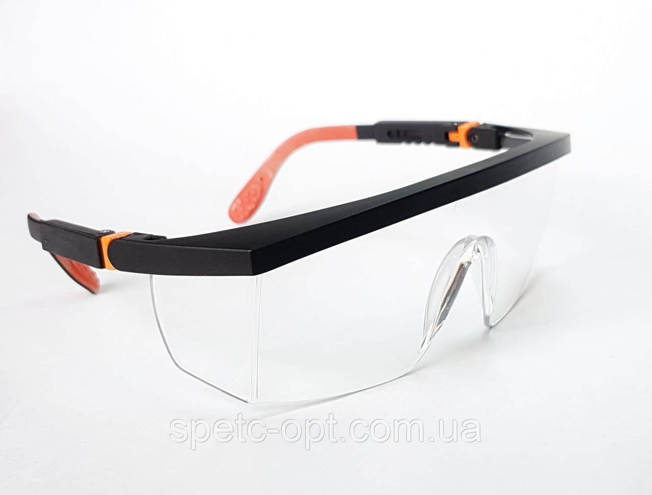 Очки защитные открытые TRIARMA, прозрачные линзы