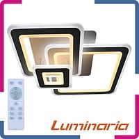 Люстра светодиодная с пультом Luminaria Triplex square S-700/600 124Вт белая